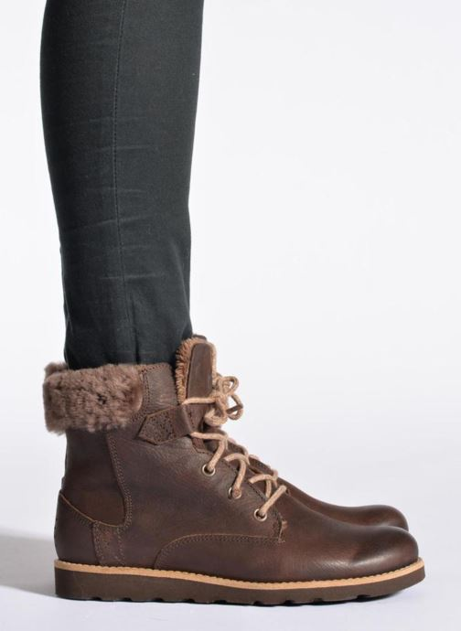 Ankle boots TBS Anaick Brown view from underneath / model view