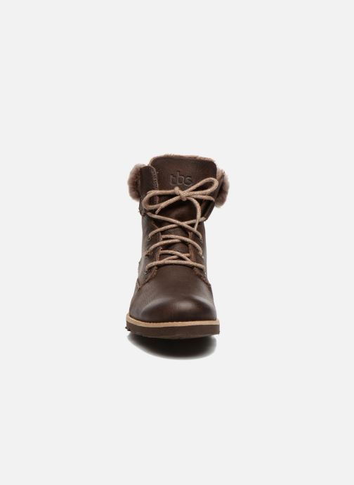 Ankle boots TBS Anaick Brown model view