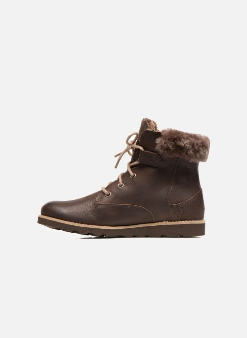 Ankle boots TBS Anaick Brown front view