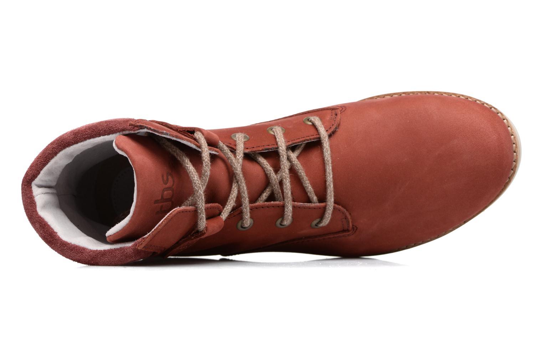 Bottines et boots TBS Anaick Rouge vue gauche