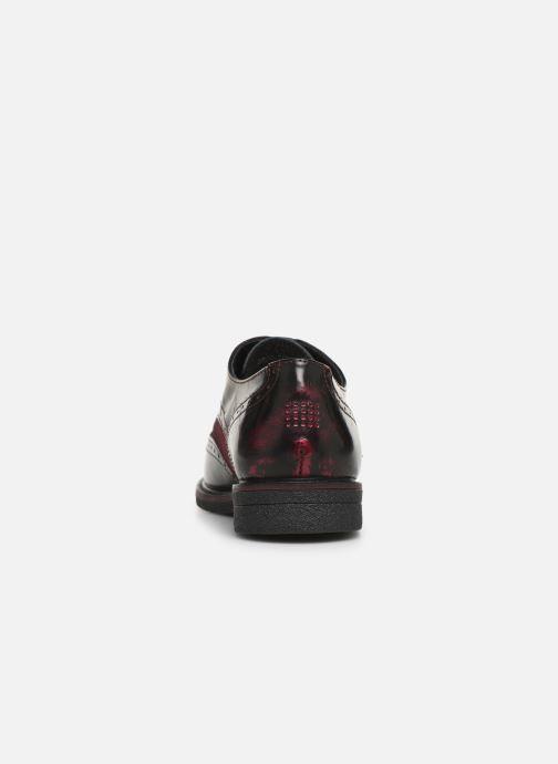 Zapatos con cordones TBS Blasty Vino vista lateral derecha