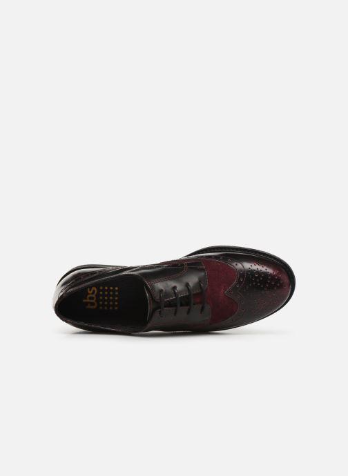 Zapatos con cordones TBS Blasty Vino vista lateral izquierda
