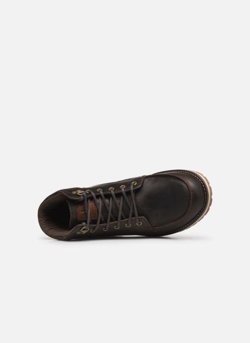 Chaussures à lacets TBS Docker Marron vue gauche