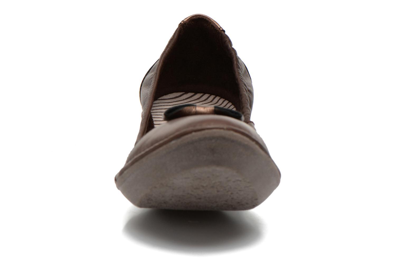 Ballerines TBS Sweety Marron vue portées chaussures