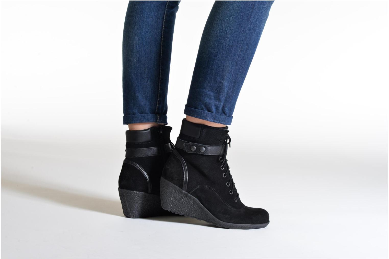 Bottines et boots TBS Wynona Noir vue bas / vue portée sac