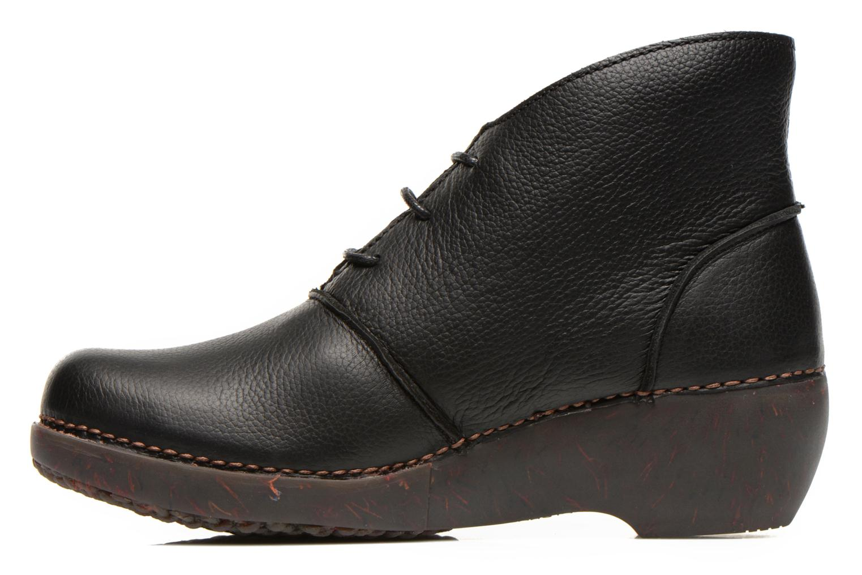 Ankle boots El Naturalista Tricot NC75 Black front view