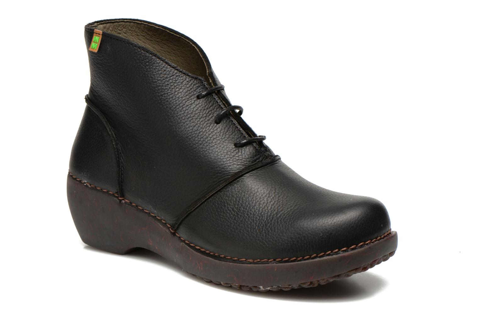 Ankle boots El Naturalista Tricot NC75 Black detailed view/ Pair view