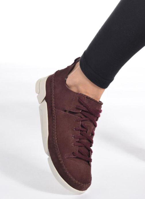 Sneaker Clarks Originals Trigenic Flex W schwarz ansicht von unten / tasche getragen