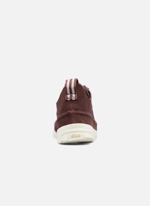 Sneaker Clarks Originals Trigenic Flex W weinrot ansicht von rechts