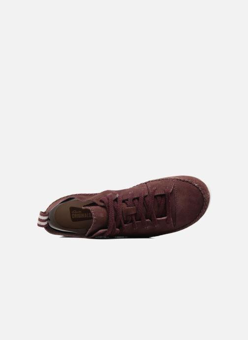 Sneaker Clarks Originals Trigenic Flex W weinrot ansicht von links