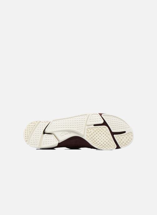 Sneaker Clarks Originals Trigenic Flex W weinrot ansicht von oben