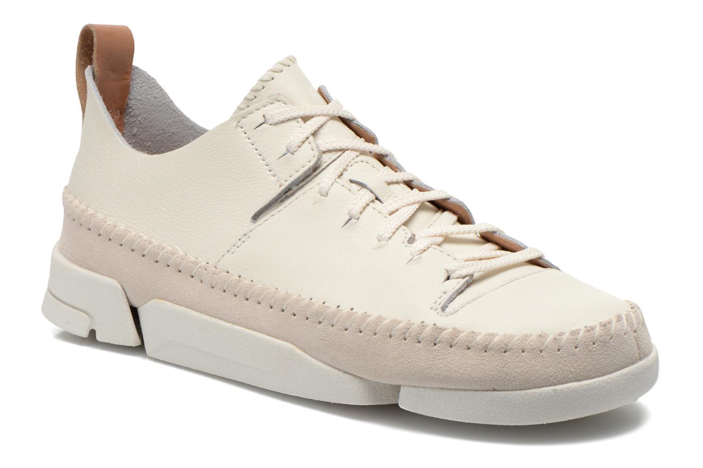 Baskets Clarks Originals Trigenic Flex W Blanc vue détail/paire