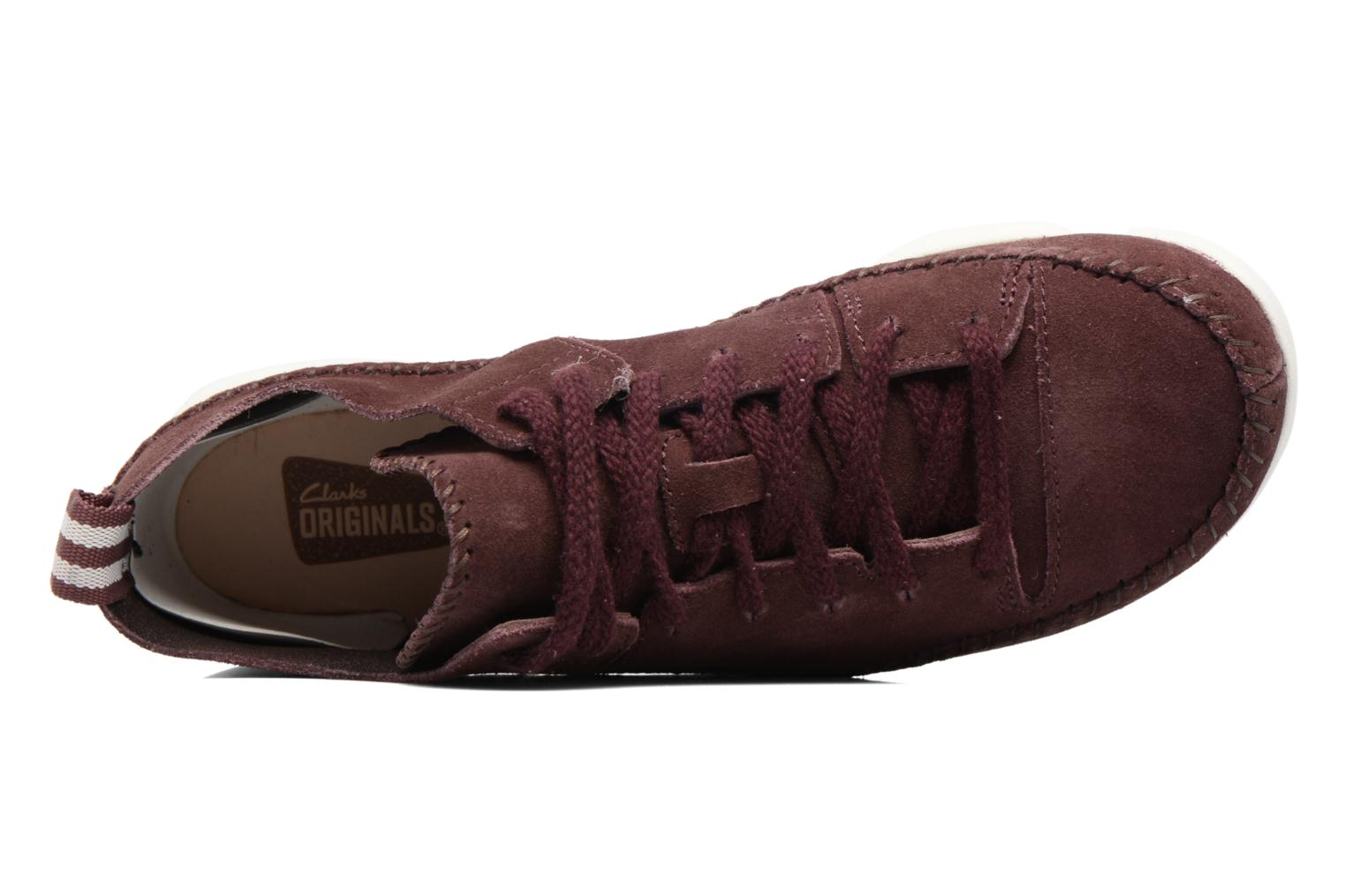 Baskets Clarks Originals Trigenic Flex W Bordeaux vue gauche
