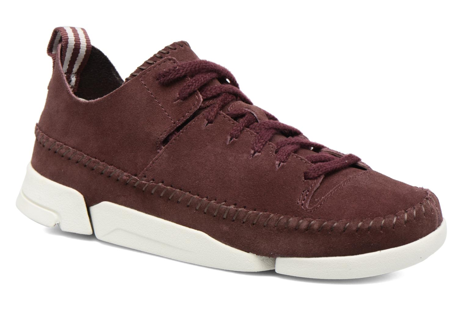 Baskets Clarks Originals Trigenic Flex W Bordeaux vue détail/paire