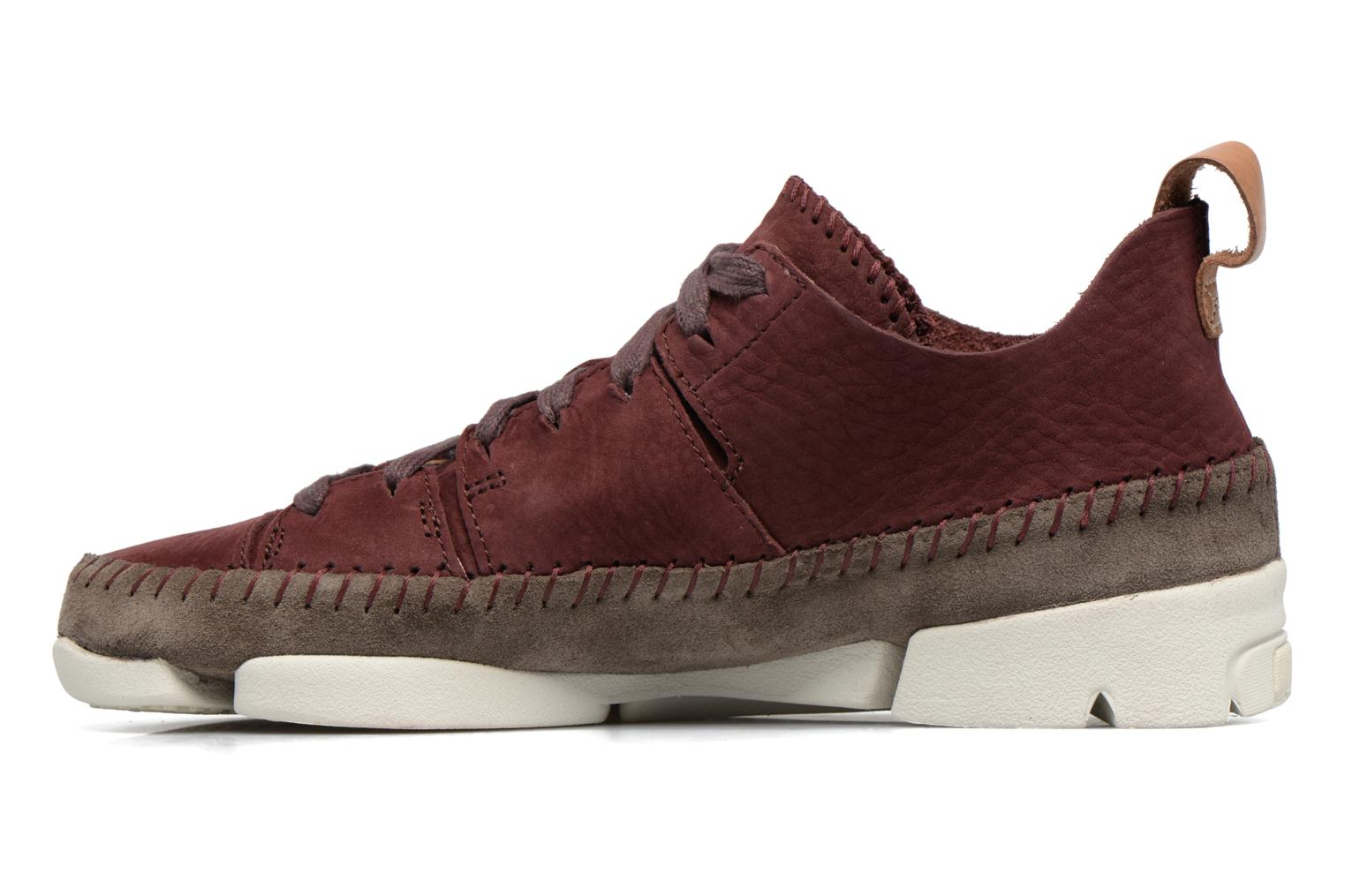 Baskets Clarks Originals Trigenic Flex W Bordeaux vue face