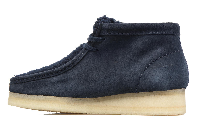 Chaussures à lacets Clarks Originals Wallabee Boot W Bleu vue face
