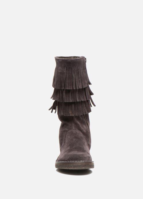 Bottes PèPè Jade Violet vue portées chaussures