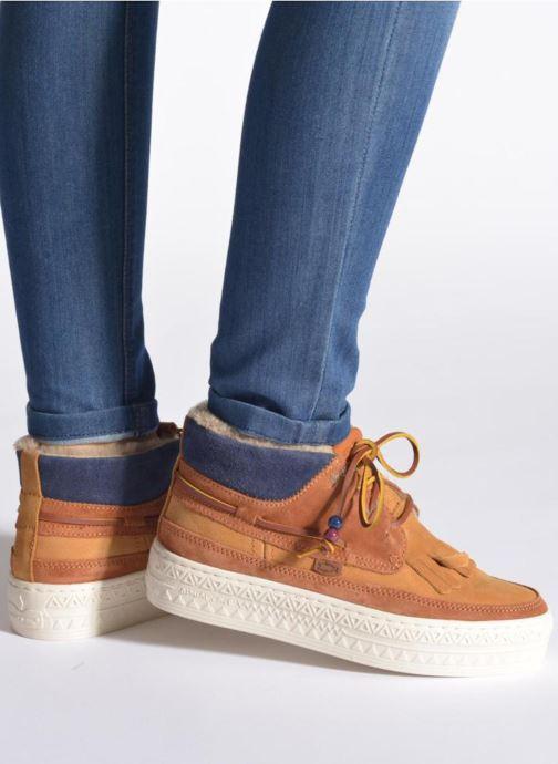 Chaussures à lacets Dolfie Mahoe W Marron vue bas / vue portée sac