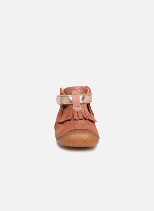 mit Klettverschluss Babybotte Zazie rosa schuhe getragen