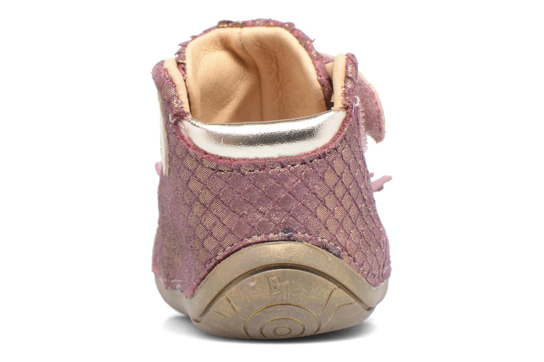 mit Klettverschluss Babybotte Zazie rosa ansicht von rechts