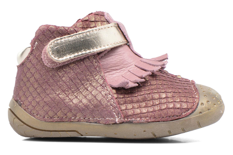 Zapatos con velcro Babybotte Zazie Rosa vistra trasera