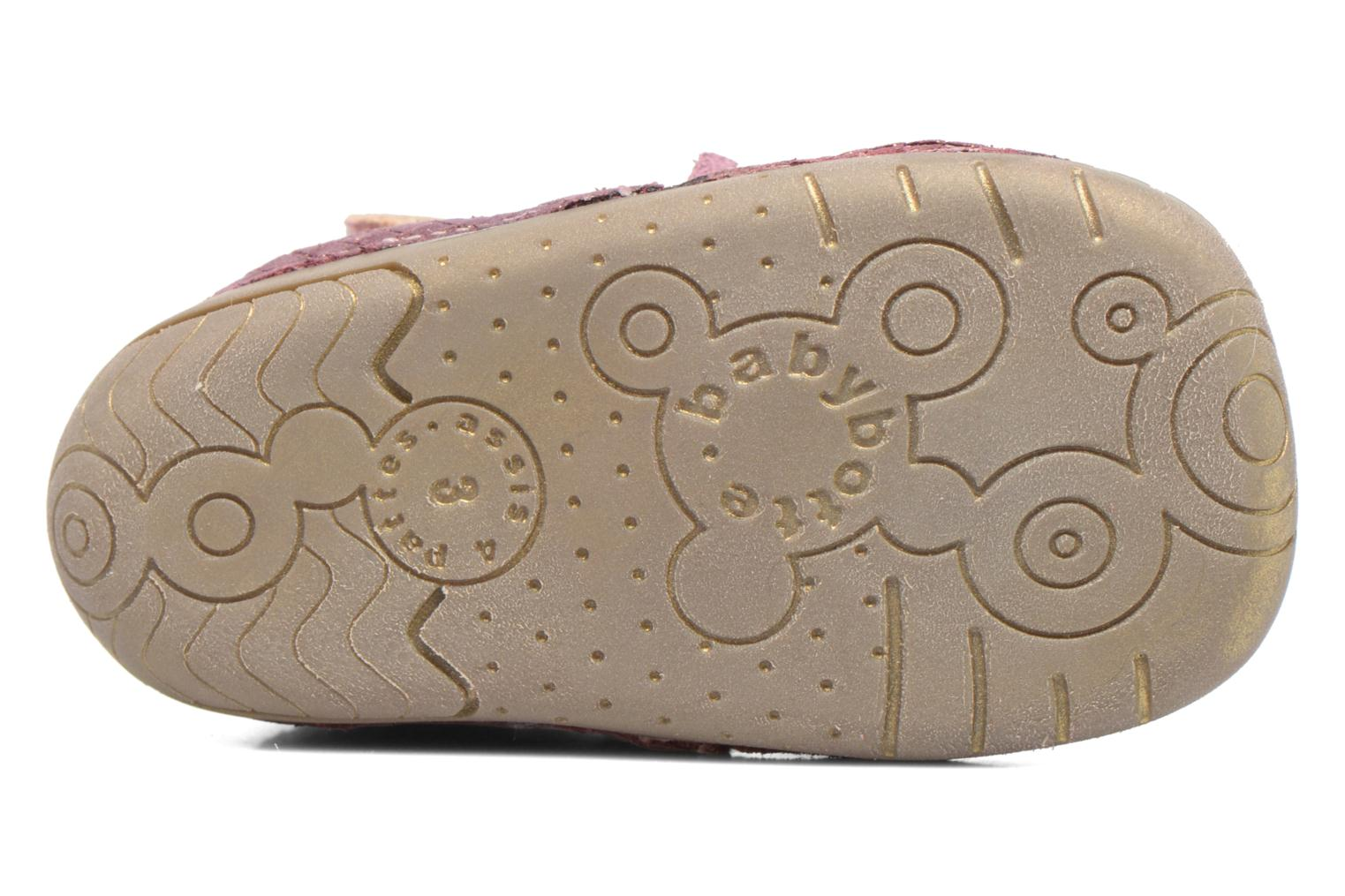 Velcro shoes Babybotte Zazie Pink view from above