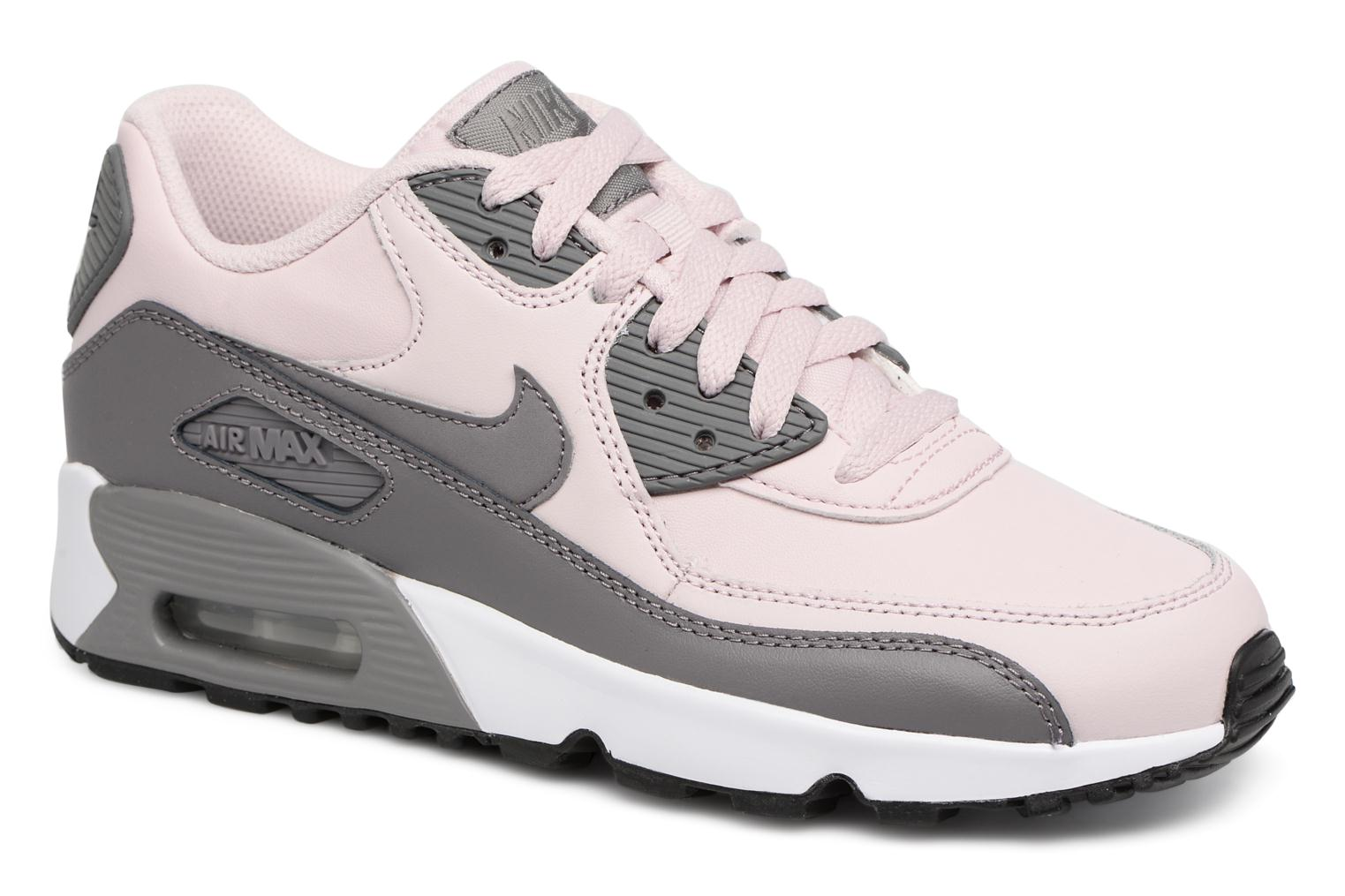 Baskets Nike Nike Air Max 90 Ltr (Gs) Rose vue détail/paire