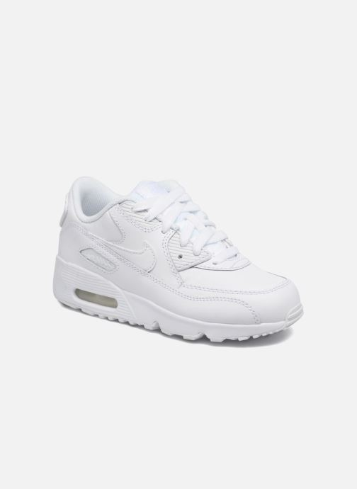 the latest a5aa5 3eb71 Baskets Nike Nike Air Max 90 Ltr (Ps) Blanc vue détail paire