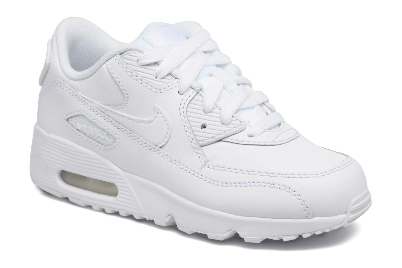 Baskets Nike Nike Air Max 90 Ltr (Ps) Blanc vue détail/paire