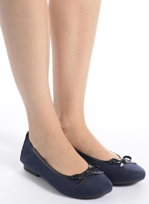 Ballet pumps Jana shoes Aciego Pink view from underneath / model view