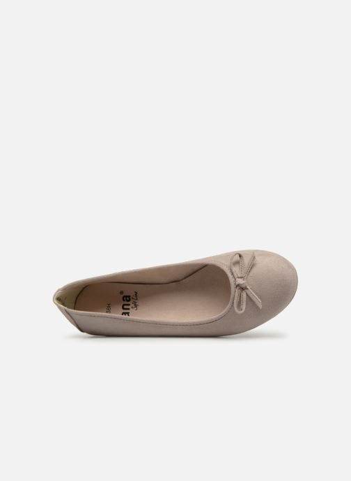 Bailarinas Jana shoes Aciego Gris vista lateral izquierda