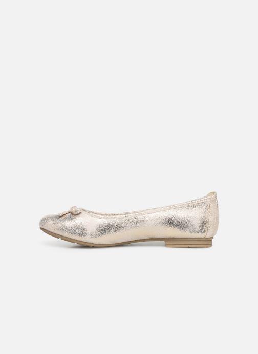 Ballerines Jana shoes Aciego Or et bronze vue face