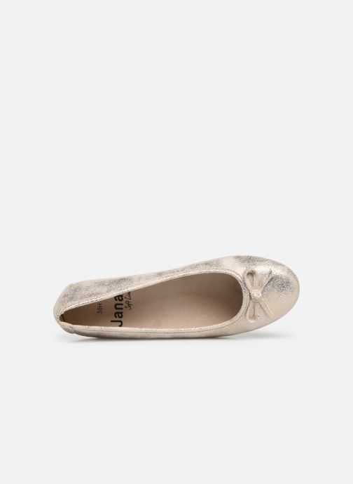 Ballerines Jana shoes Aciego Or et bronze vue gauche
