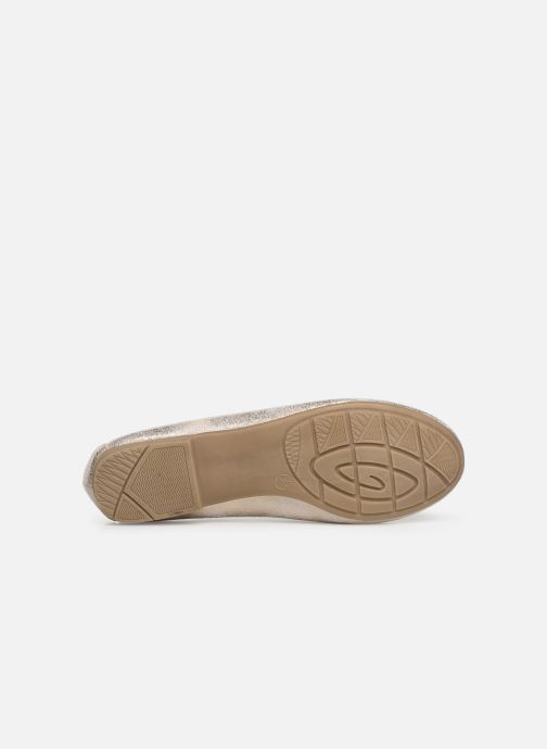 Ballerines Jana shoes Aciego Or et bronze vue haut