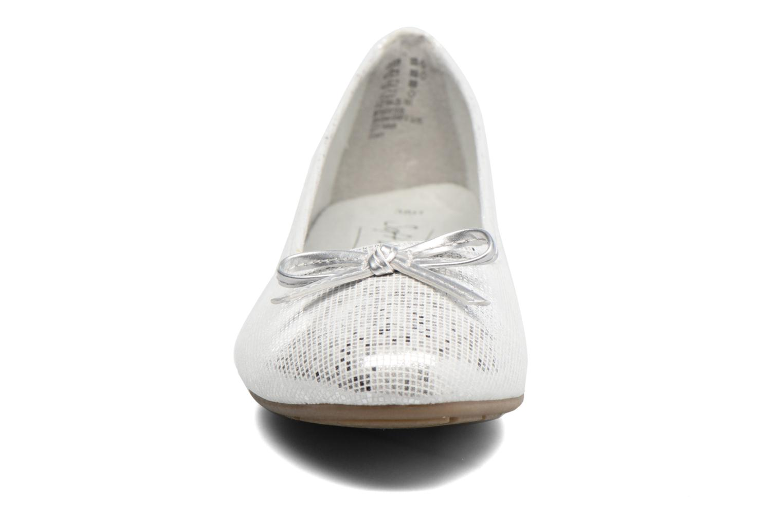 Ballerines Jana shoes Aciego Argent vue portées chaussures