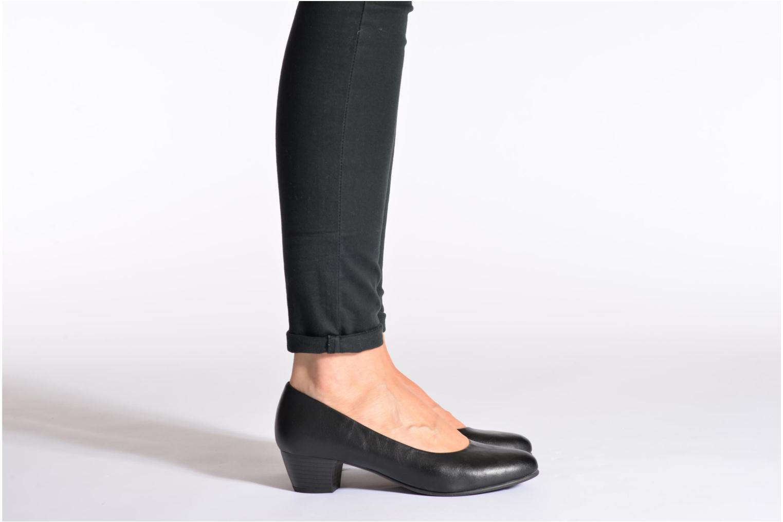 Escarpins Jana shoes Zudiri Noir vue bas / vue portée sac