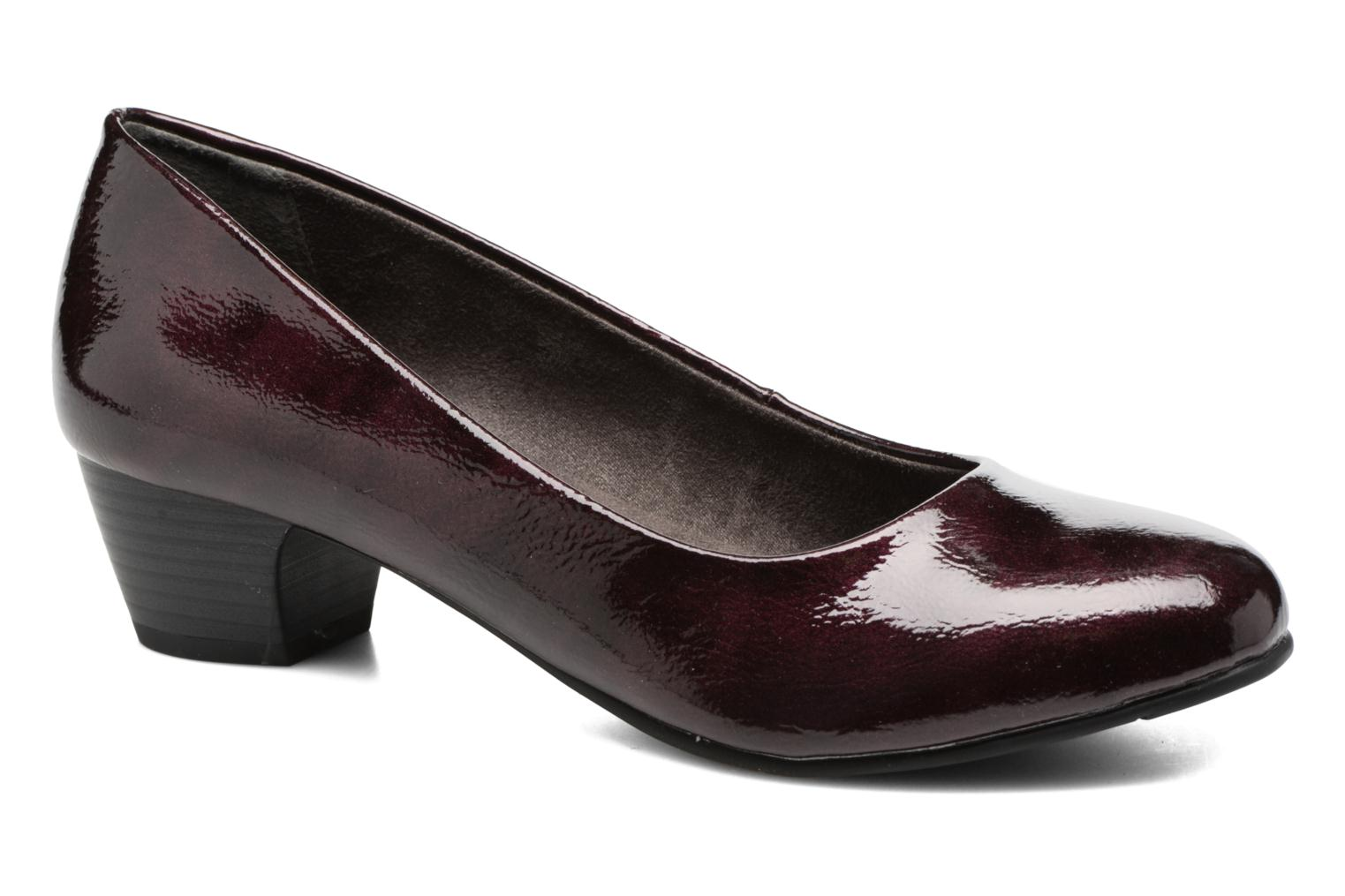 Escarpins Jana shoes Zudiri Bordeaux vue détail/paire