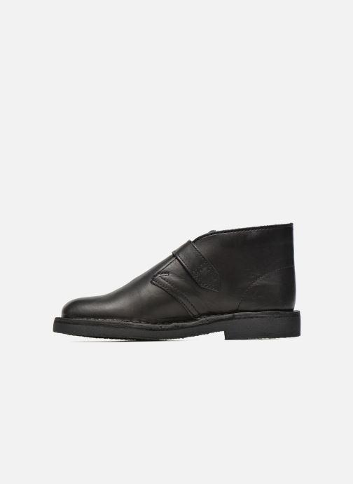 Bottines et boots Clarks Desert Buck Noir vue face