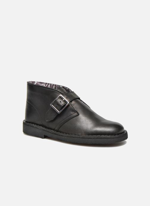 Bottines et boots Clarks Desert Buck Noir vue détail/paire