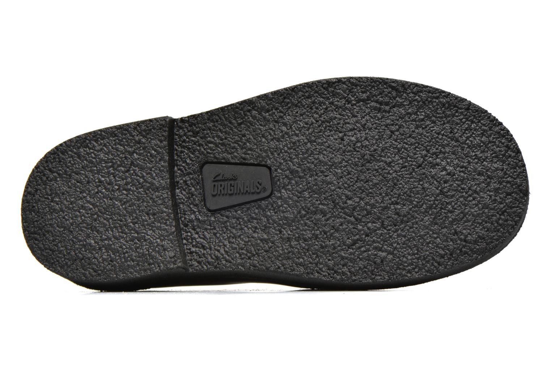 Chaussures à lacets Clarks Desert Lnd Noir vue haut