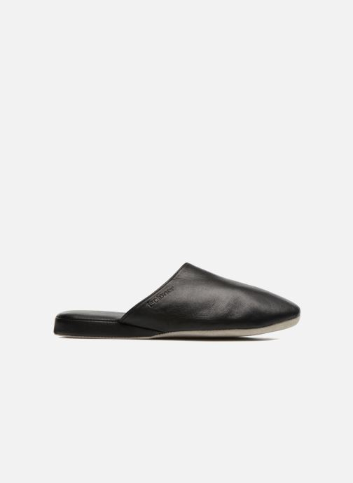 Slippers Isotoner Mule Cuir Black view from the right
