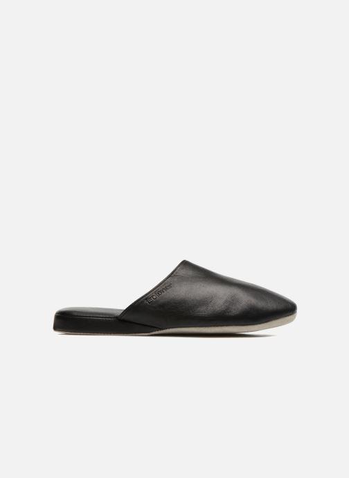 Pantuflas Isotoner Mule Cuir Negro vista lateral derecha