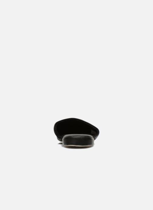 Hausschuhe Isotoner Mule Cuir schwarz ansicht von hinten