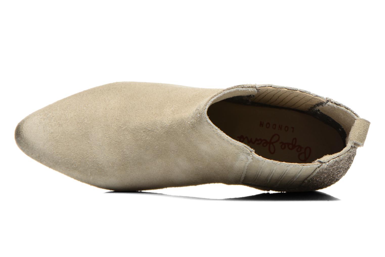 Botines  Pepe jeans Redford Half Beige vista lateral izquierda
