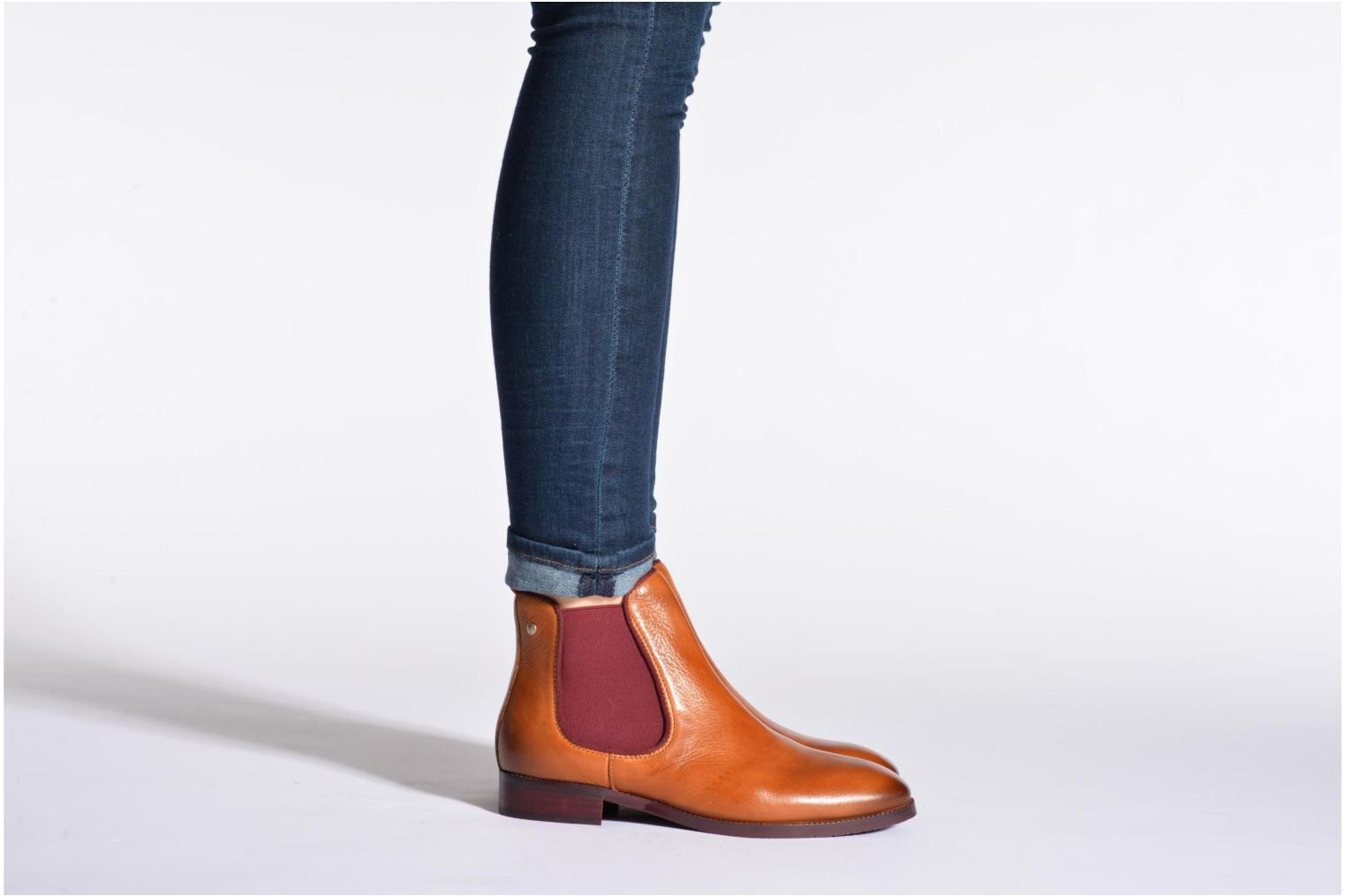 Ankle boots Pikolinos Royal W4D-8637 Brown view from underneath / model view