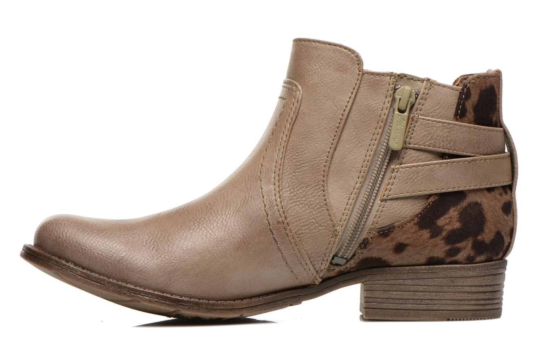 Bottines et boots Mustang shoes Lienos Beige vue face