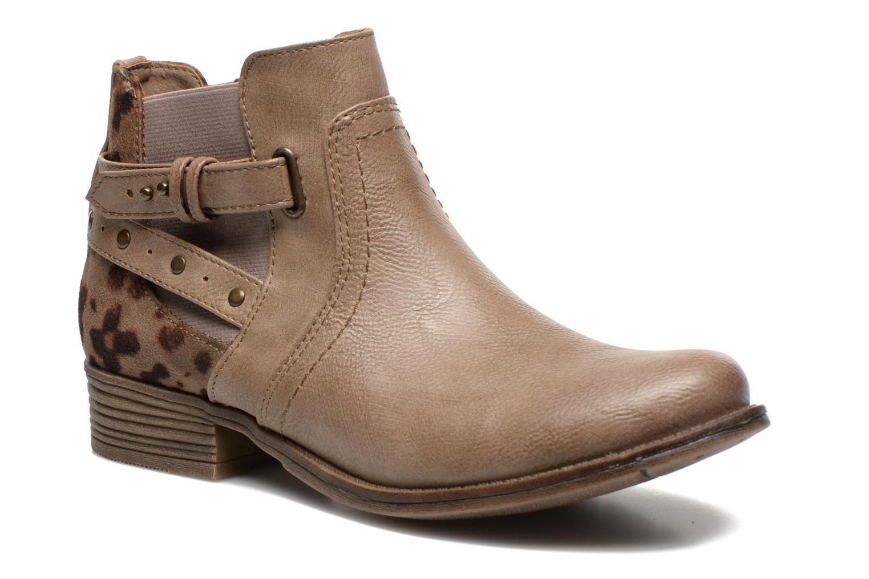 Bottines et boots Mustang shoes Lienos Beige vue détail/paire