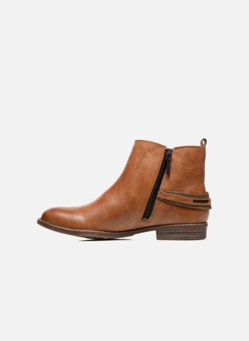 Ankle boots Mustang shoes Isauris Brown front view