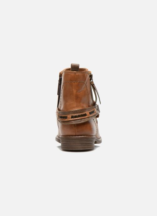 Ankle boots Mustang shoes Isauris Brown view from the right