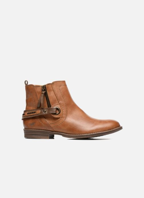 Ankle boots Mustang shoes Isauris Brown back view
